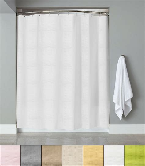 """Embossed Fabric Shower Curtainliner 70""""x72"""" Heartwood"""