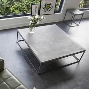 Table Basse En Beton : table basse beton table de salon design table basse design ~ Teatrodelosmanantiales.com Idées de Décoration