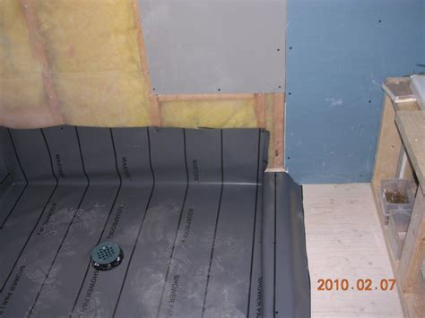 How To Install Shower Liner - shower pan liner flooring diy chatroom home
