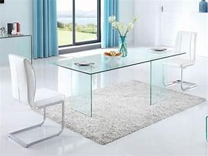 Table à Manger En Verre : table manger coledon 8 couverts verre tremp ~ Teatrodelosmanantiales.com Idées de Décoration