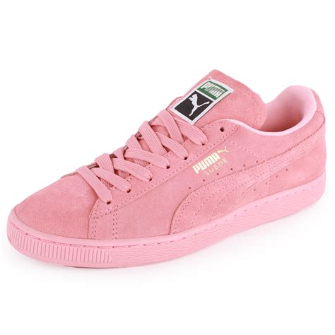Puma Suede Classic Womens Suede Trainers Light Pink New