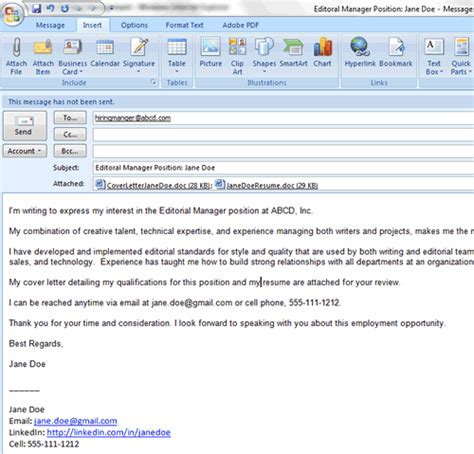 how to apply for jobs via email