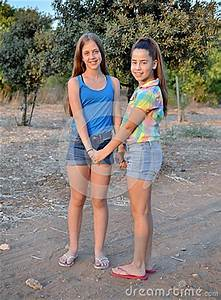Two Best Friend Girls Holding Hands Stock Photo - Image ...