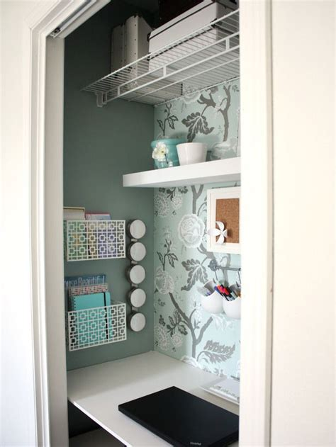 25 best ideas about closet turned office on