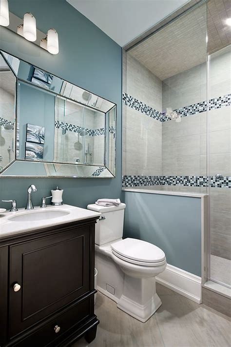 Blue Bathroom Ideas by 29 Ideas To Use All 4 Bahtroom Border Tile Types Digsdigs