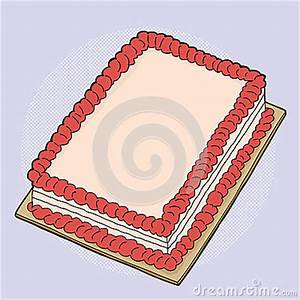 Cartoon Strawberry Cake Stock Vector - Image: 44166082