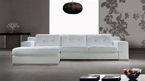 canape cuir blanc design salon moderne cuir