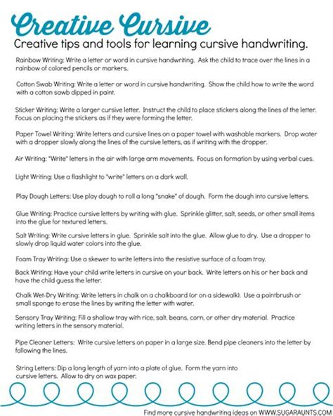 Learn To Write Cursive With A Creative Cursive Handwriting Journal  The Ot Toolbox