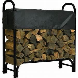Roughneck, Covered, Firewood, Rack, U2014, 4ft, L, Model, 90350