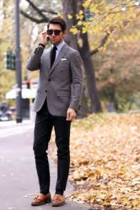 Light Gray Suit Jacket with Black Pants