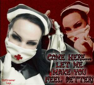 come here let me make you feel better scary nurse - Get ...