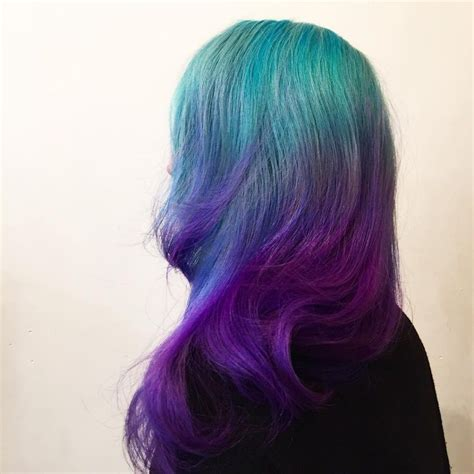Turquoise To Violet Ombre Hair Hair Hair Hair Color