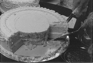 cut  wedding cake learned  trick  school