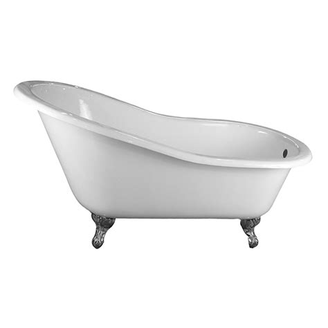 cast iron tub grayson 57 cast iron slipper tub no faucet holes