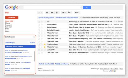 Email Template With Google Embid by Google Project Management And Collaboration Zoho Projects