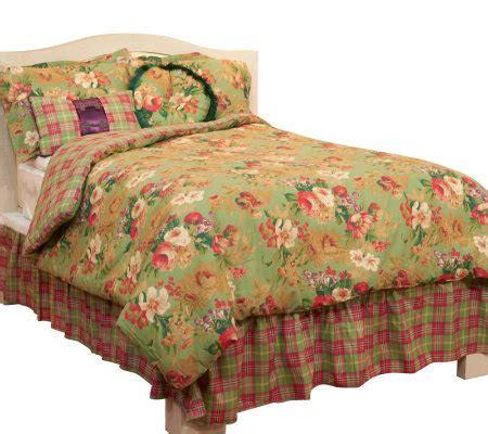 raymond waites swag floral 6 pc queen comforter set qvc com