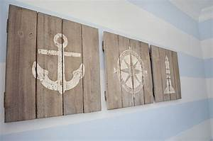 Rustic boat wood signage and nautical decor baby boy
