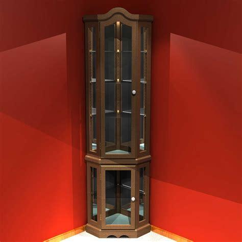 Custom Kitchen Design Ideas - corner curio cabinet for elegant home office