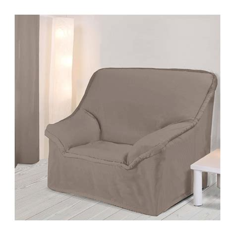 housse pour canapé pas cher housse fauteuil unie taupe