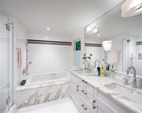 Modern Bathroom Marble Tile by Pros And Cons Of White Marble Tile Midcityeast