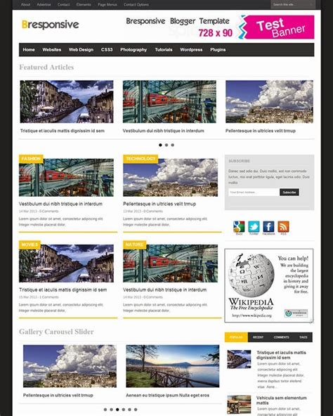 Templates Entertainment Blog by Top 10 Templates For Technology And Entertainment