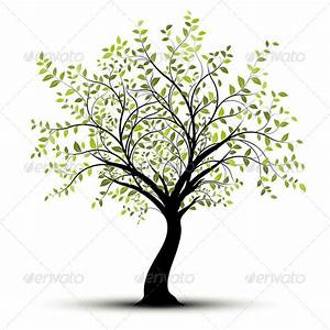 Young Tree over White Background, Drawing Stock Photo by ...