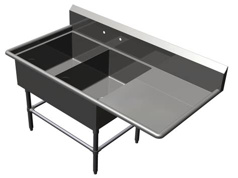 boos 2 bowl bakery utility sink with drainboard