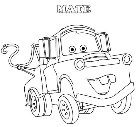mater coloring pages tow mater drifting coloring pages tow mater drifting