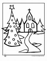 Coloring Church Christmas Pages Catholic Christian Activities Drawing Printable Templates Tree Books Evergreen Caminho Igreja Para Printer Send Button Special sketch template