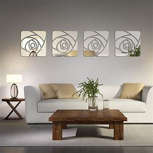 2016 hot sale Acrylic 3d wall stickers home decor mirror ...