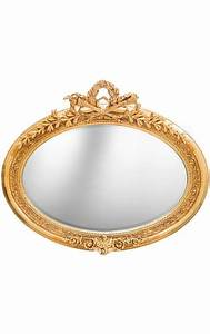 Grand Miroir Baroque : tr s grand miroir baroque ovale dor horizontal ~ Teatrodelosmanantiales.com Idées de Décoration