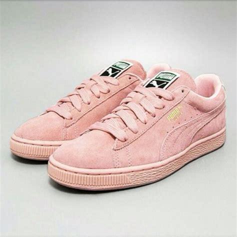 light pink puma shoes shoes puma suede light pink wheretoget