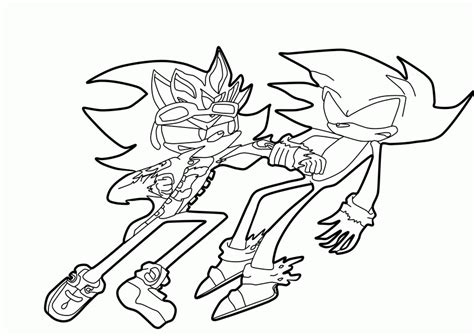 Sonic Vs Shadow Para Colorear