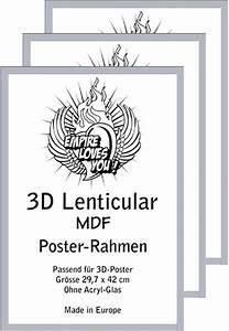 Poster Aufhängen Ohne Rahmen : rahmen a3 3d 30x42 cm 3er set 3 cm mdf silber wechselrahmen 34 7x47 ~ Bigdaddyawards.com Haus und Dekorationen