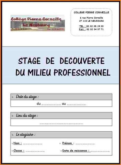 rapport de stage en cuisine exemple 7 modèle rapport de stage 3ème lettre de preavis