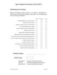 Sport Competition Anxiety Test
