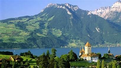 Wallpapers Tapety Switzerland Spiez Castle Pinger