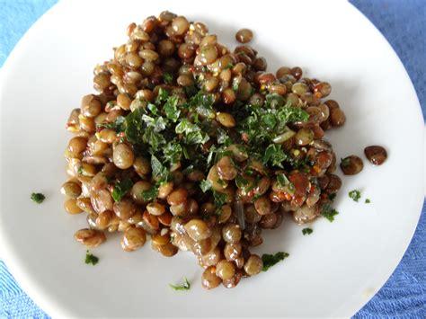 cuisiner lentilles vertes salade de lentilles vertes du puy les recettes de donatienne