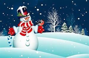 Cool Picture Of New Year Wallpaper Of Snowman Merry