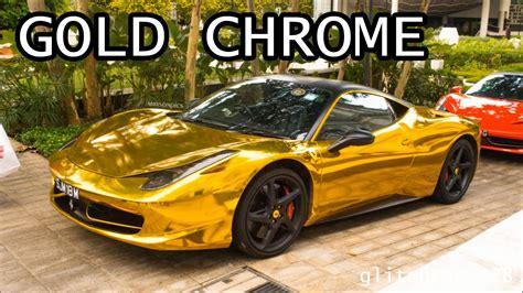 gold ferrari 458 gold chrome ferrari 458 italia youtube