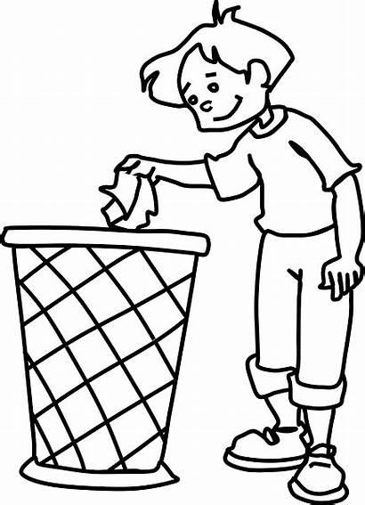 Dustbin Clipart Sampah Gambar Kartun Tong Tempat