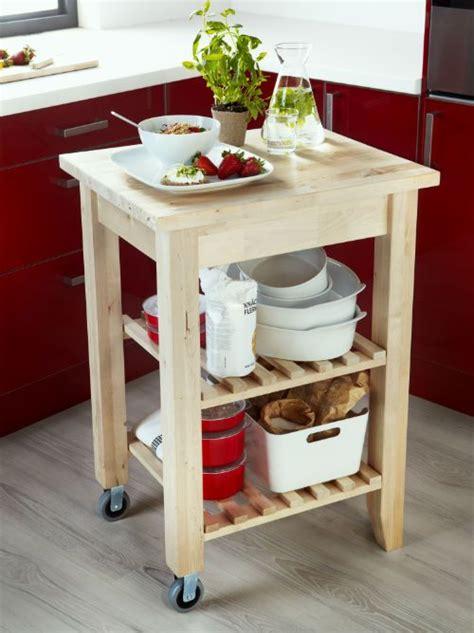 bekvaem kitchen cart birch    small