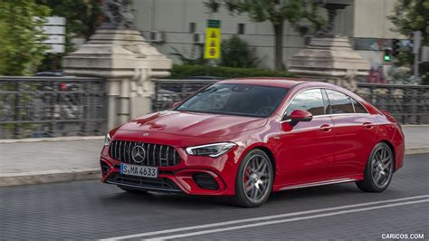 Big power is easy to come by in 2020. 2020 Mercedes-AMG CLA 45 (Color: Jupiter Red) - Front ...