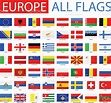 Flags Of Europe Full Vector Collection Stock Illustration ...