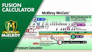 Using The Mcelroy Fusion Slide Calculator