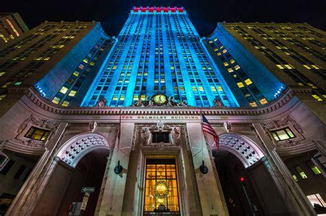 yorks helmsley building unveils gorgeous led light