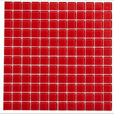 Red Glass Mosaic Tile, (l)300mm (w)300mm  Departments
