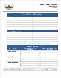 project lessons learned template the purpose of the With project management lessons learnt template