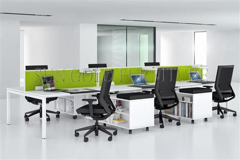 China Fashion 6 Person Seats Straight Office Partition