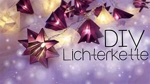 Lampions Selber Basteln : diy lichterkette mit papiersterne anleitung youtube ~ Watch28wear.com Haus und Dekorationen